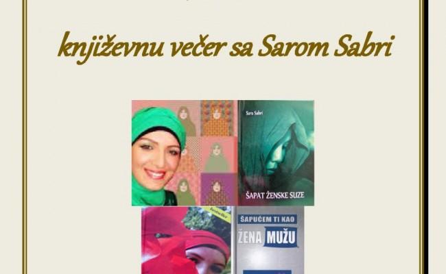 Poziv na Književnu večer sa Sarom Sabri