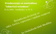 Omladinsko predavanje i druženje u nedjelju (23.11.2014.) u 19 h