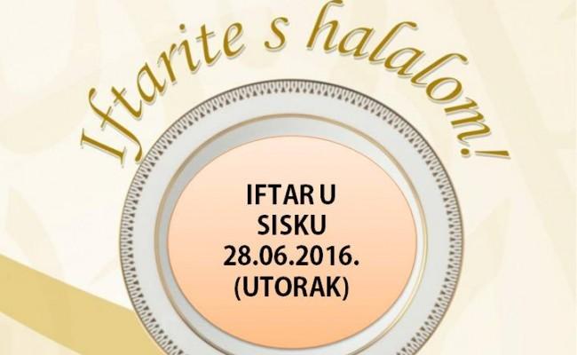 """""""Iftarite s halalom"""", poziv na Iftar u utorak, 28.06.2016."""