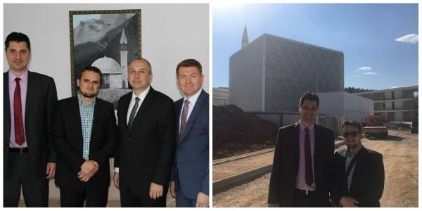 Čelnici MIZ Sisak posjetili Islamski centar Ljubljana u izgradnji
