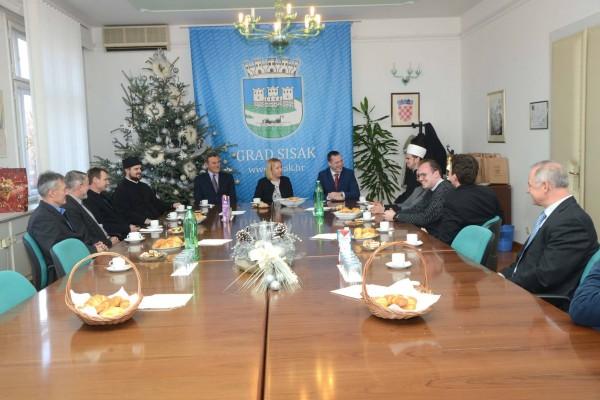 Održan prijem za vjerske zajednice u kabinetu gradonačelnice